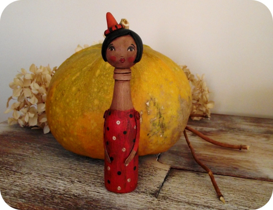 Lil' miss Halloween - 'Bottle Whimsies' collection doll